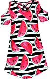 Unique Baby Girls Spring Summer Watermelon Dress (8/XXXL, Black)