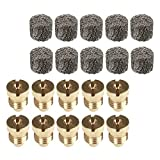 DYNWAVE 20Pack Foam Orifice 1.1mm and Foam Maker Set Replacement Thread Nozzle Tips for Snow Foam Lance 2019