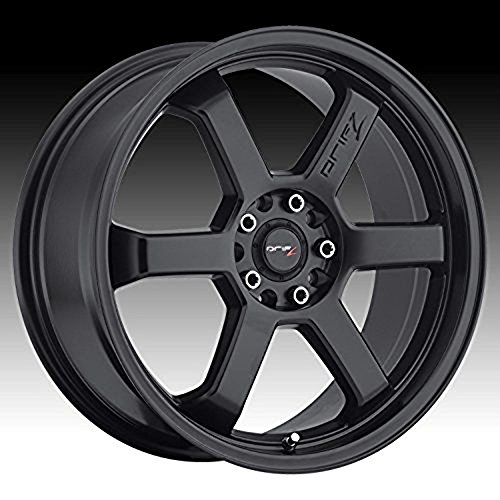 Drifz Hole Shot 16 Black Wheel / Rim 5x100 & 5x4.5 with a 42mm Offset and a 73 Hub Bore. Partnumber 303B-6701842 (2004 Honda Crv Rims compare prices)