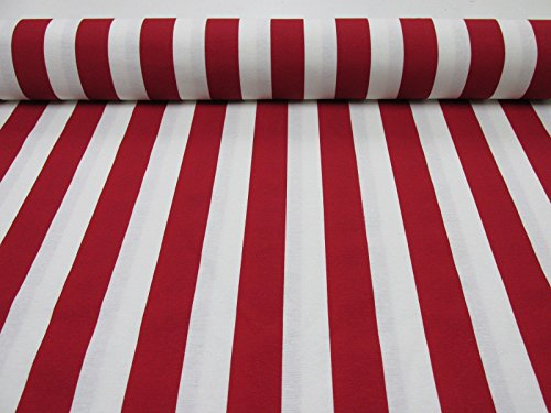red and white upholstery fabric - 1