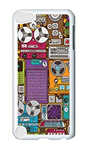 iPod 5 Case,VUTTOO Cover With Photo: Magnetophone For iPod Touch 5 - PC White Hard Case