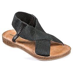 Adam Tucker Amora 15 Women US 6.5 Black Open Toe Slingback Sandal
