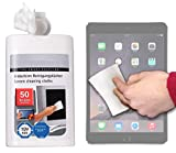 DURAGADGET 50-Pack Multi-Purpose & Anti-Static LCD Touchscreen Cleaning Cloths for NEW Apple iPad Mini 4 / Mini 3