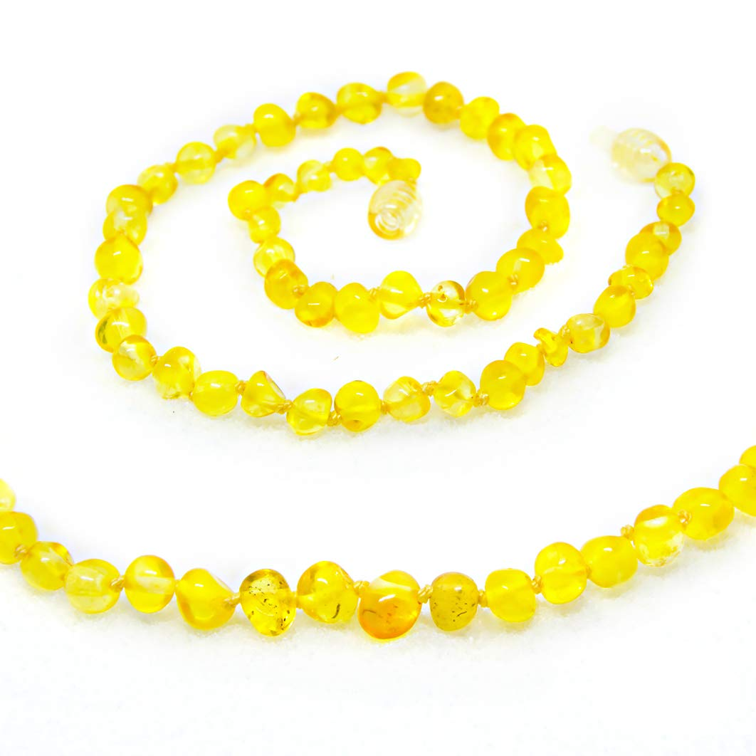 The Art of Cure Baltic Amber Necklace 25 Inch (lemon) - Anti-inflammatory by The Art of Cure