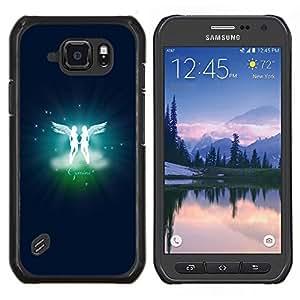 "Be-Star Único Patrón Plástico Duro Fundas Cover Cubre Hard Case Cover Para Samsung Galaxy S6 active / SM-G890 (NOT S6) ( Gemini Twins Signo del Zodiaco"" )"