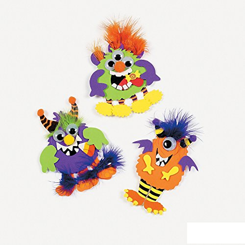 Monster Magnet Craft Kit - Crafts for Kids & Magnet Crafts-Makes 12 ()
