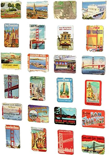 MISWEE 24-pcs magnetic fridge magnets refrigerator sticker home decoration accessories magnet paste arts crafts (San ()