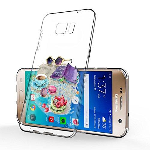 Vanki® Samsung Galaxy S6/S6 Edge Funda, Protectiva Carcasa de Silicona de gel TPU Transparente Ultra delgada Amortigua los golpes Case Cover Para Galaxy S6/S6 Edge 05