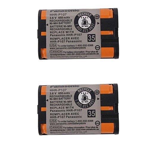 Original Panasonic Ni-MH Rechargeable Cordless Phone Battery (HHR-P107A/1B) - 2-pack