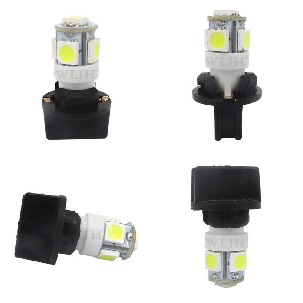 WLJH 10Pack Printed Circuit Base T10 194 168 LED Light Bulb PC194 PC195 PC160 PC161 PC168 Instrument Panel Gauge Cluster Dashboard Automotive Multi-Purpose Light Bulb White