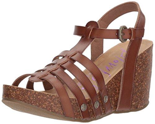 Blow Kvinners Beskjeden Plattform Sandal Rødbrun Duyecut