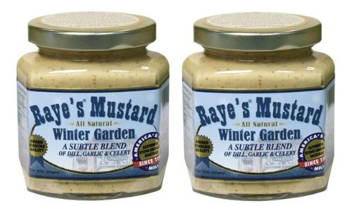 Raye's Winter Garden Mustard (9 oz Jars) 2 Pack made in New England