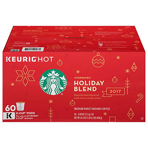 Starbucks French Roast Dark Roast Ground Coffee (2017 Holiday Blend, 60 K-Cups) by Starbucks