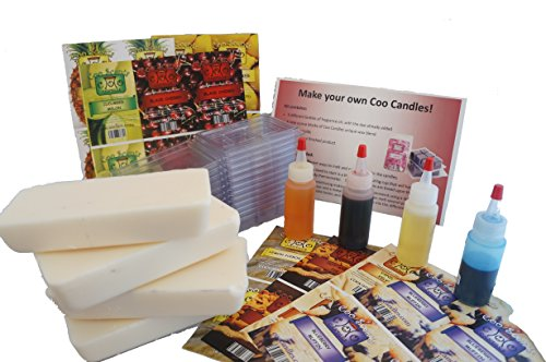 Coo Candles Make Your Own Wax Melt Kit to Include Blueberry Muffin, Hot Apple Pie, Vanilla Velvet, and Lemon IceBox Cake (Bakery Scents)