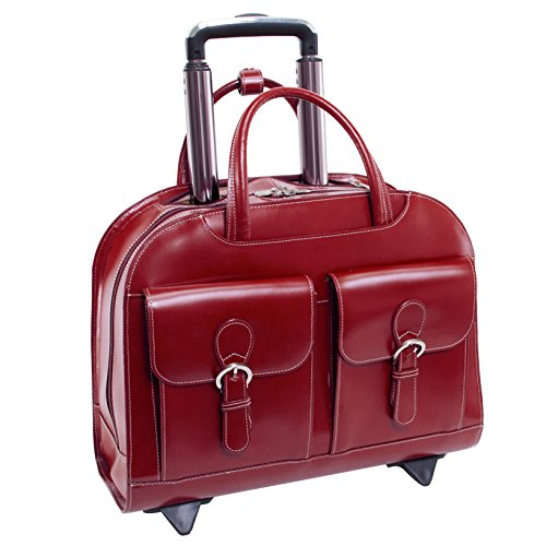 McKleinUSA DAVIS 96186A Red Wheeled Ladies' Laptop Case by McKleinUSA