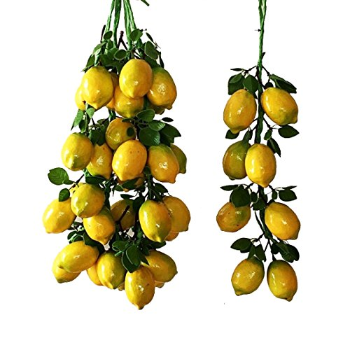 Calcifer 19.69''Artificial Fruits Vegetable String for Restaurant Hotel Home Garden Decoration Display (Lemon String:8 Bulbs) from Calcifer