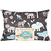 Little Sleepy Head Toddler Pillowcase - Cuddle Collection (jungle Blue), Brown, 13  X 18