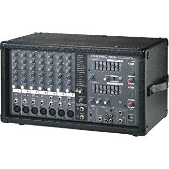 phonic powerpod 780 plus 2x300w 7 channel powered mixer with digital effects. Black Bedroom Furniture Sets. Home Design Ideas