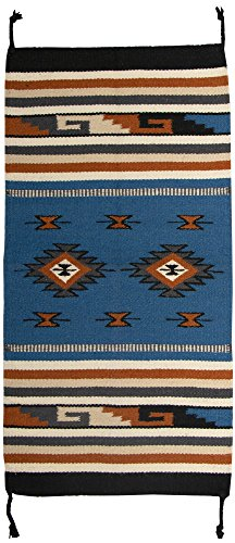 El Paso Designs Southwest Hand Woven Wool Accent Rug (20'' X 40'') (HIM40432) by El Paso Designs