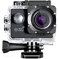 Zision Sport Camera 2.0 Inch 170°Ultra-wide Angle Len 1080P Full HD Waterproof/Dustproof/Shockproof WIFI Remote Control Action camera Diving Shooting Stay Well on Helmet Up to 98 Feet Waterproof