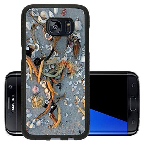 Liili Premium Samsung Galaxy S7 Edge Aluminum Backplate Bumper Snap Case IMAGE ID: 7114720 seashells on sandy beach at sunset Sanibel Florida