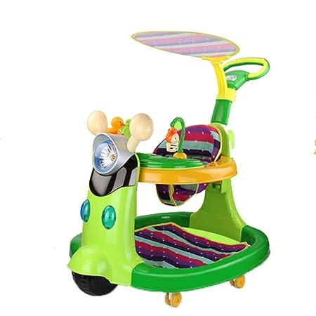A~LICE&BW Andador para bebés, Empuje con Ruedas universales ...