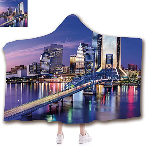 scocici Fashion Blanket Ancient China Decorations Blanket Wearable Hooded Blanket,Unisex Swaddle Blankets for Babies Newborn by,Bridge Office Buildings Jacksonville Florida,Adult Style Children Style