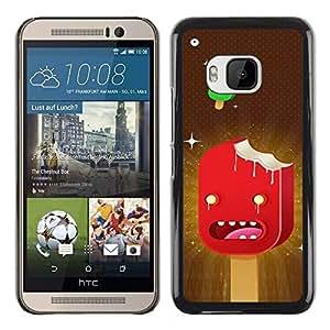 TopCaseStore / la caja del caucho duro de la cubierta de protección de la piel - Ice Cream Art Cartoon Characters Red Stars - HTC One M9