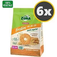 6 Enerzona Frollini 40-30-30 da 250 g. gusto Ai Cereali Antichi con Quinoa e Amaranto