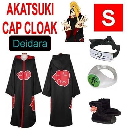 Naruto cosplay traje Set para Deidara - Capa con capucha ...