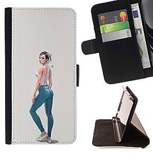 Momo Phone Case / Flip Funda de Cuero Case Cover - Jeans Fashion Design Fille - HTC One A9