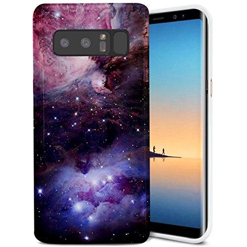 Samsung Galaxy Note 8 Case, ZUSLAB Slim Shockproof Flexible TPU, Soft Rubber Silicone Skin Cover for Samsung Galaxy Note 8 (Colorful Nebula)