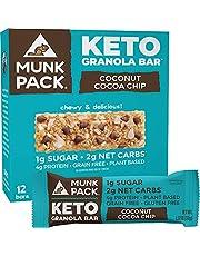 Munk Pack Keto Granola Bar, 1g Sugar, 2g Net Carbs, Keto Snacks, Chewy & Grain Free, Plant Based, Paleo-Friendly, Gluten Free, Soy Free, No Sugar Added