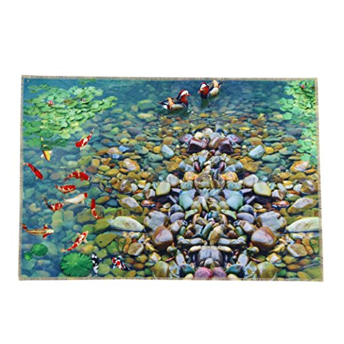 Iuhan Fashion Cobblestone Door Kitchen Carpets Memory Foam Bathroom Absorbent Non-slip Mat