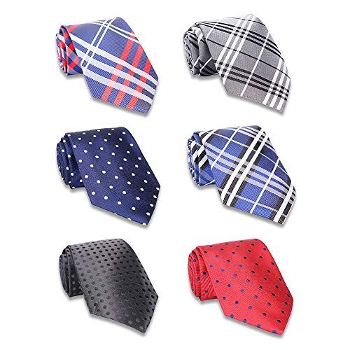 AVANTMEN Classic Men's Neckties 6 PCS Woven Jacquard Neck Ties (S7)