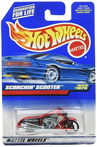 Mattel Hot Wheels 1999 1:64 Scale Red Scorchin Scooter Die Cast Motorcycle Collector #1075 (Hot Wheels Scooter)