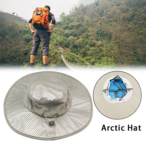 (Cooling Bucket Hat - Heat Dissipation Fisherman Cap - Summer Arctic Hat Sunscreen Cooling Air Conditioning Cap Ice Cap for Women Men - Wide Side/Duck Tongue Style)