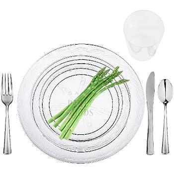 Plastic Tableware Wedding Table Settings