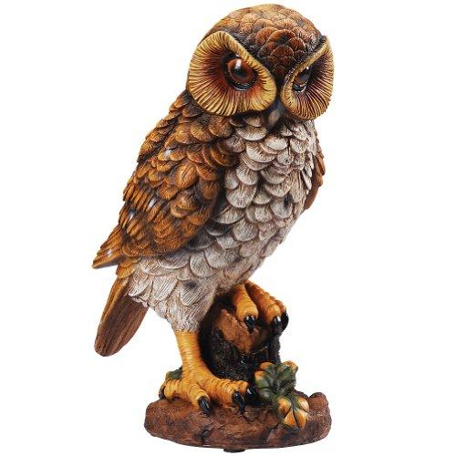 Motion Activated Hooting Owl Decor - Shining Eyes Light Up & Hoots -