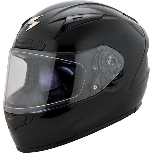 Scorpion Solids EXO-R2000 Sports Bike Motorcycle Helmet - Black / Large