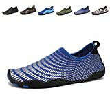 CIOR Men Women's Barefoot Quick-Dry Water Sports Aqua Shoes with 14 Drainage Holes for Swim, Walking, Yoga, Lake, Beach, Garden, Park, Driving