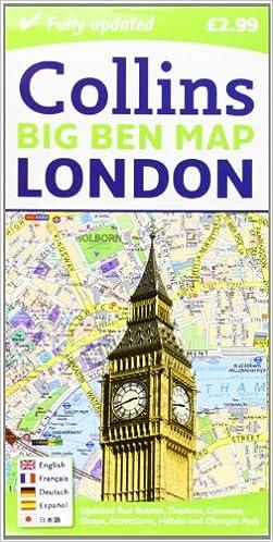 London Big Ben Map Amazoncouk Collins Maps 9780007452439 Books