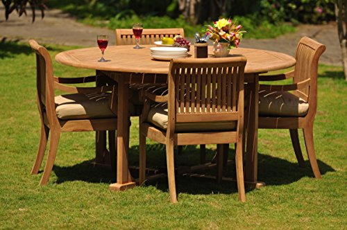 TeakStation 4 Seater 5 Pc Grade-A Teak Wood Dining Set: 72
