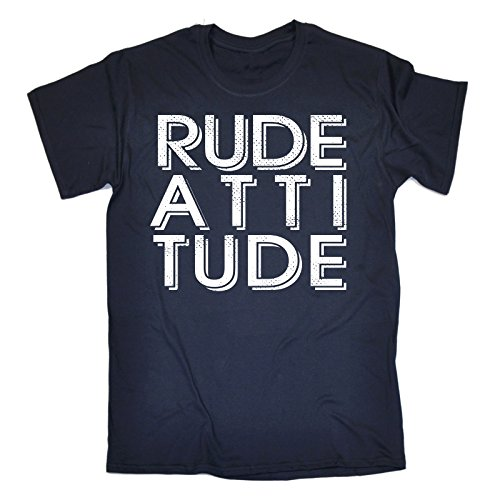 da slogan scuro 123t manica a shirt blu con Slogan T uomo corta nanRw4xq