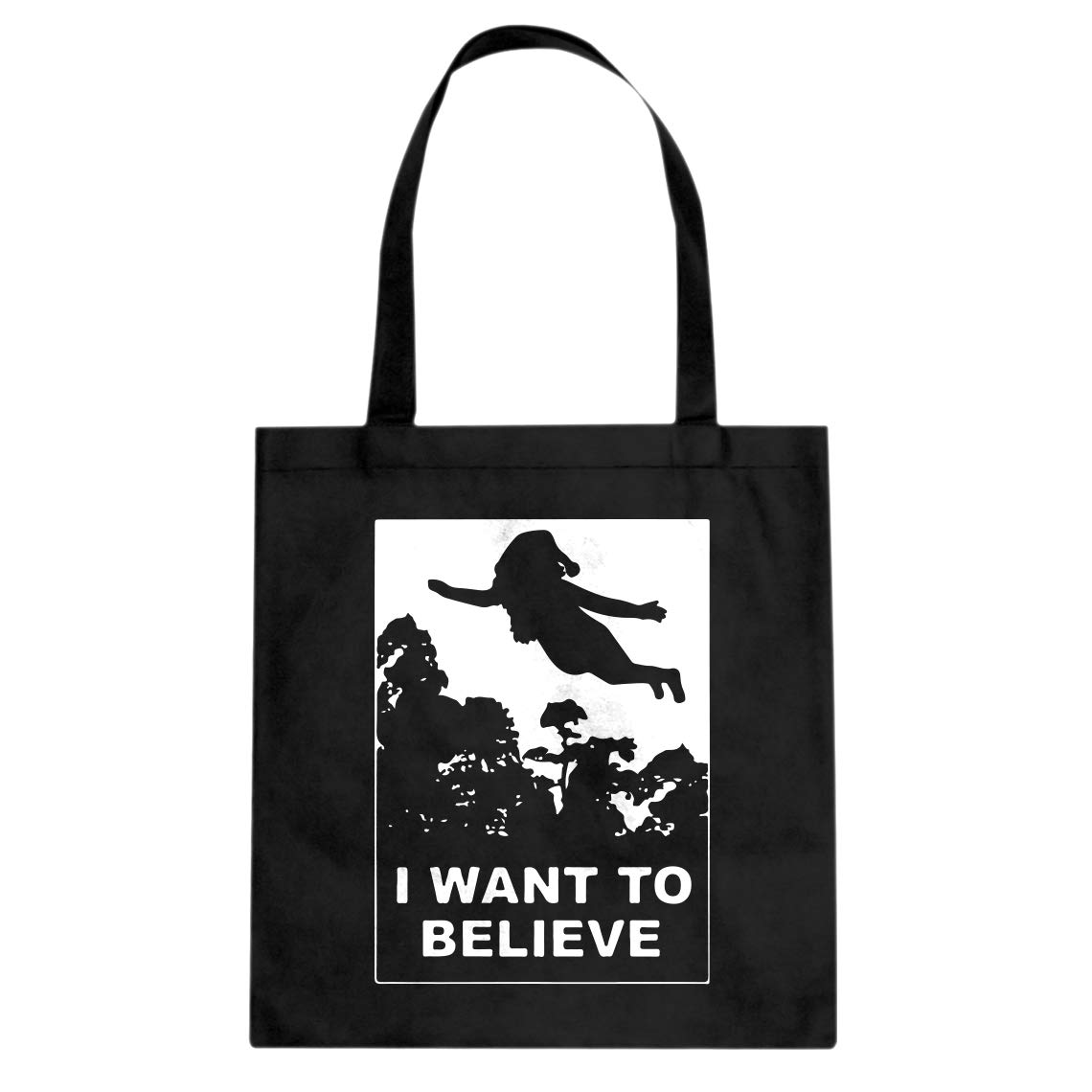 Indica Plateau I Want to Believe Human Holiday Cotton Canvas Tote Bag