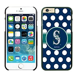 Seattle Mariners Cool Custom Design iPhone 6 4.7 Inch TPU Phone Case 2 Black