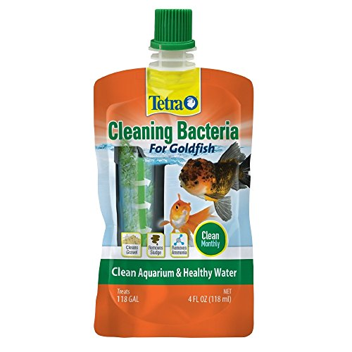 Tetra Cleaning Bacteria for Goldfish, for Aquarium Cleaning 4 Ounce
