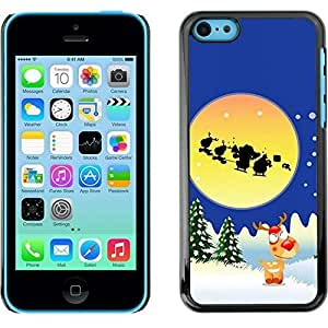Hard Skin Case Cover Pouch for Apple iPhone 4 4s - Christmas Holiday Santa Claus Holiday