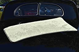 (2-Pack) THE RAG COMPANY 20 in. x 40 in. PLATINUM PLUFFLE Professional Korean 70/30 400gsm Plush Waffle Microfiber Detailing and Drying Towels