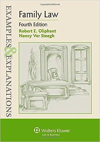Family law (examples & explanations): robert e. Oliphant, nancy.